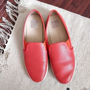 DOLCE VITA Orange Perforated Cutout Loafer Shoes 9